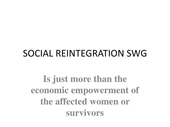 social reintegration swg n.