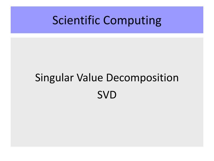 scientific computing n.