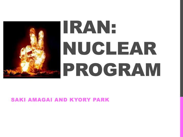iran nuclear program n.
