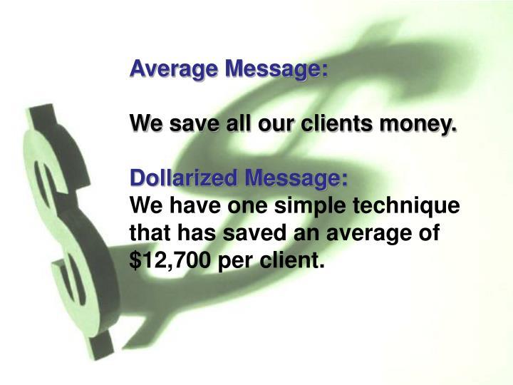 Average Message: