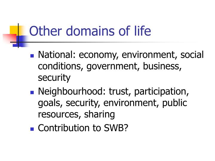 Other domains of life