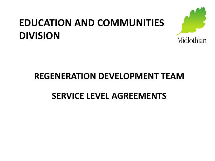education and communities division n.