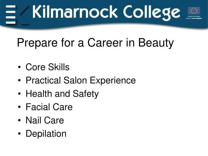 Prepare for a Career in Beauty