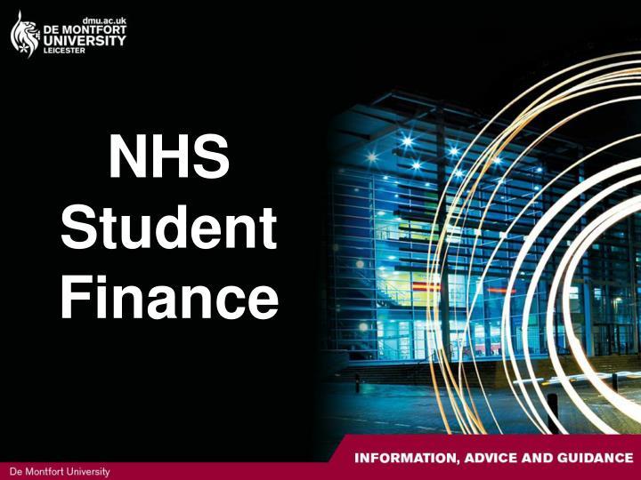 Nhs student finance