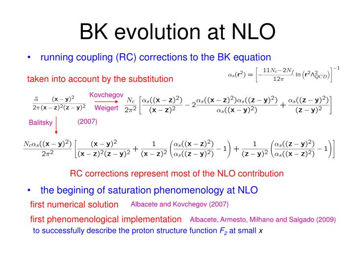 the begining of saturation phenomenology at NLO