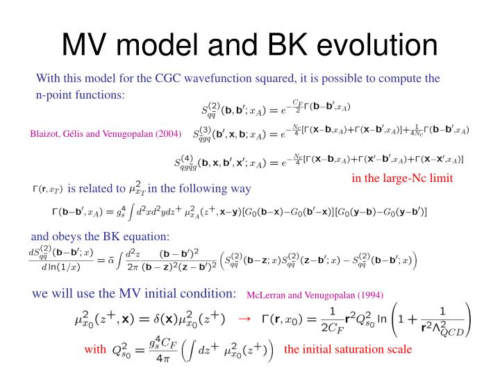 and obeys the BK equation: