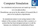 computer simulation