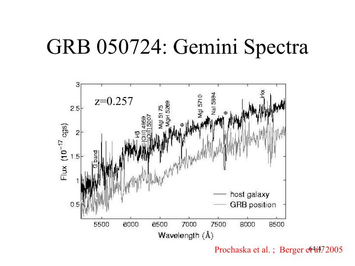 GRB 050724: Gemini Spectra