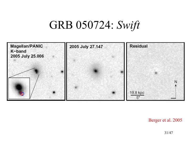 GRB 050724: