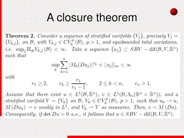 A closure theorem