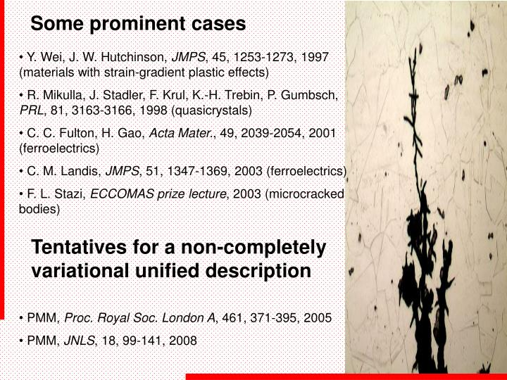 Some prominent cases