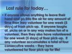 last rule for today