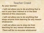 teacher creed