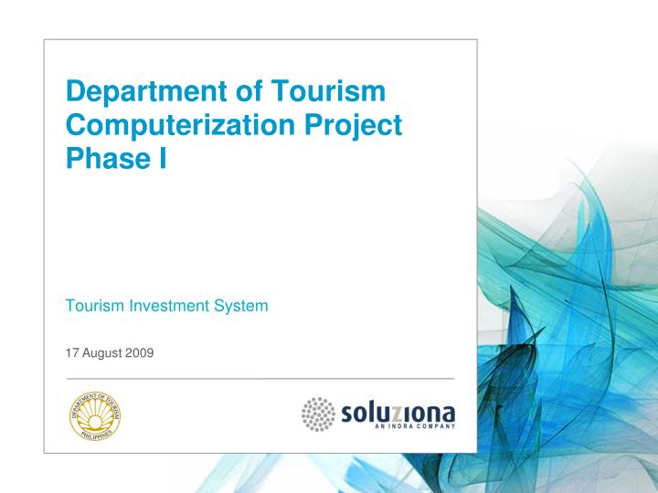department of tourism computerization project phase i n.