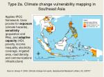 type 2a climate change vulnerability mapping in southeast asia