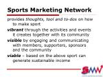 sports marketing network