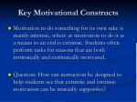key motivational constructs