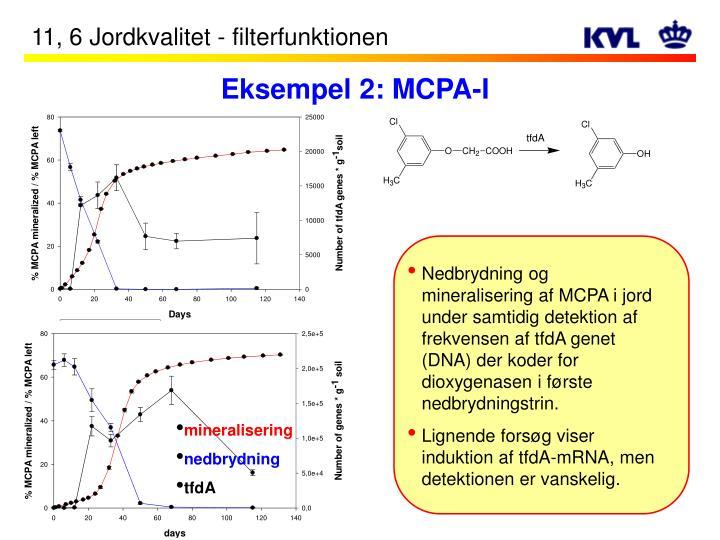 Eksempel 2: MCPA-I