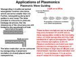 applications of plasmonics1