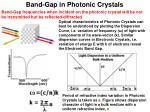 band gap in photonic crystals