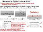 nanoscale optical interactions
