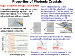 properties of photonic crystals