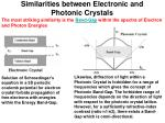 similarities between electronic and photonic crystals