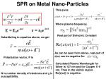 spr on metal nano particles