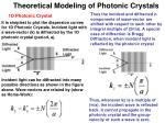 theoretical modeling of photonic crystals
