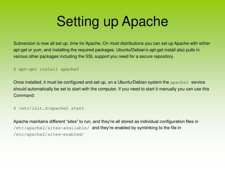 Setting up Apache
