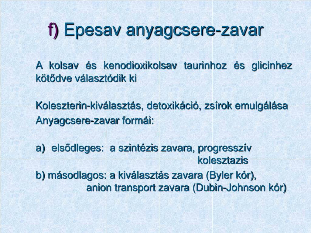 PPT - MÁJ ÉS EPEBETEGSÉGEK GYERMEKKORBAN PowerPoint..