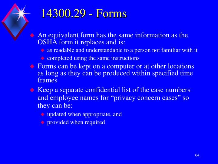 14300.29 - Forms