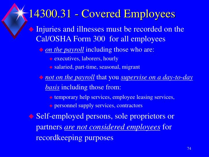 14300.31 - Covered Employees