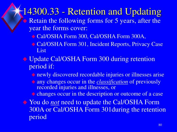 14300.33 - Retention and Updating