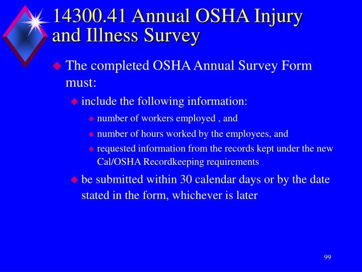 14300.41 Annual OSHA Injury