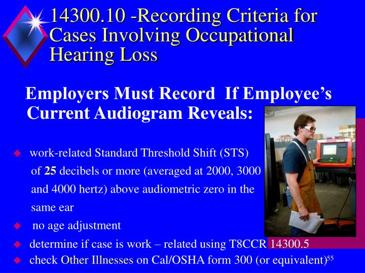 14300.10 -Recording Criteria for Cases Involving Occupational Hearing Loss