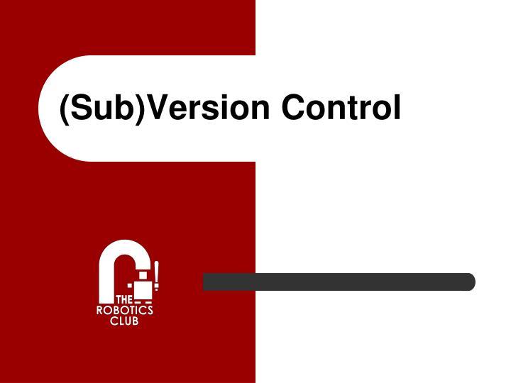 sub version control n.