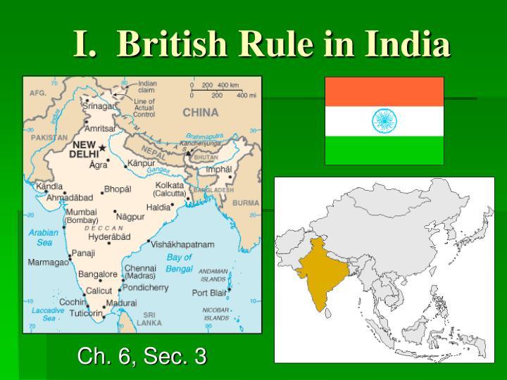 i british rule in india n.