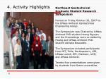 4 activity highlights