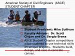 american society of civil engineers asce student chapter