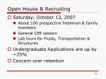 open house recruiting