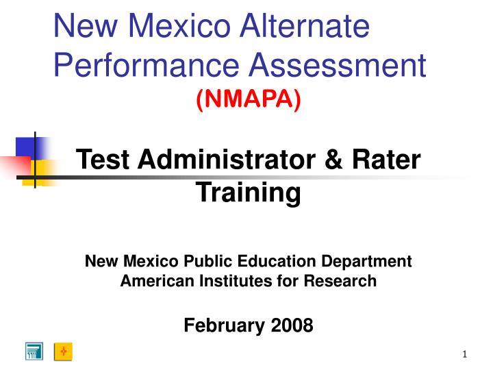 new mexico alternate performance assessment n.