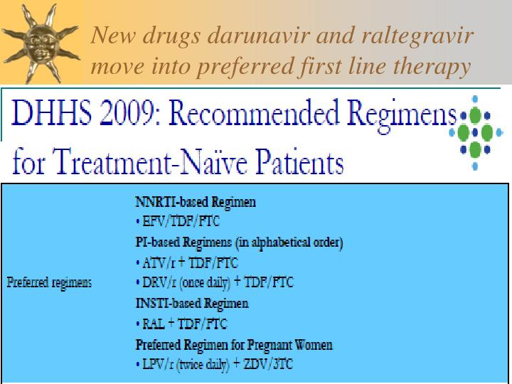 New drugs darunavir and raltegravir move into preferred first line therapy