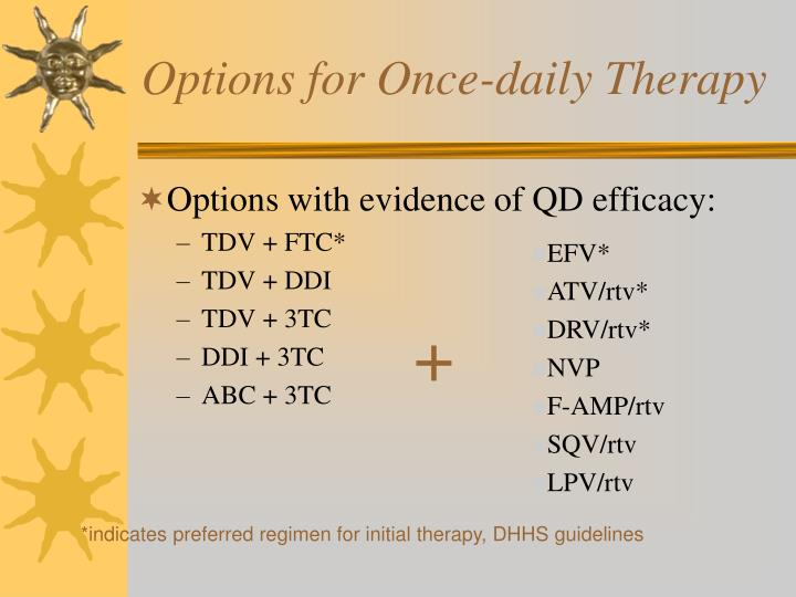 Options for Once-daily Therapy