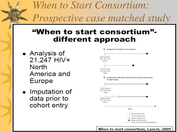 When to Start Consortium: Prospective case matched study
