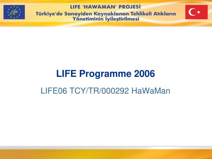 life programme 200 6 n.