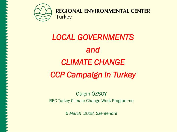 local governments and climate change ccp campaign in turkey n.