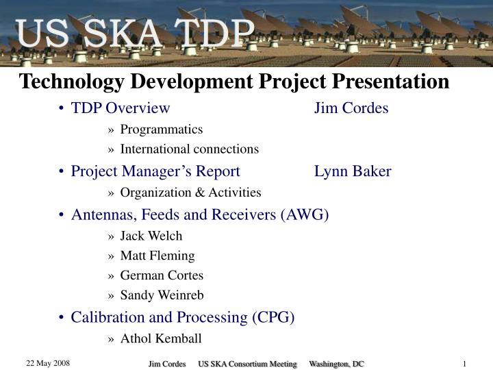 Technology Development Project Presentation