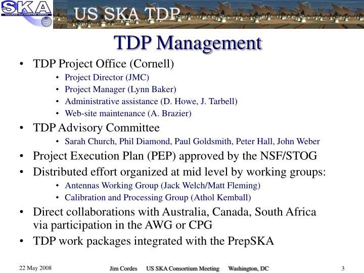 Tdp management