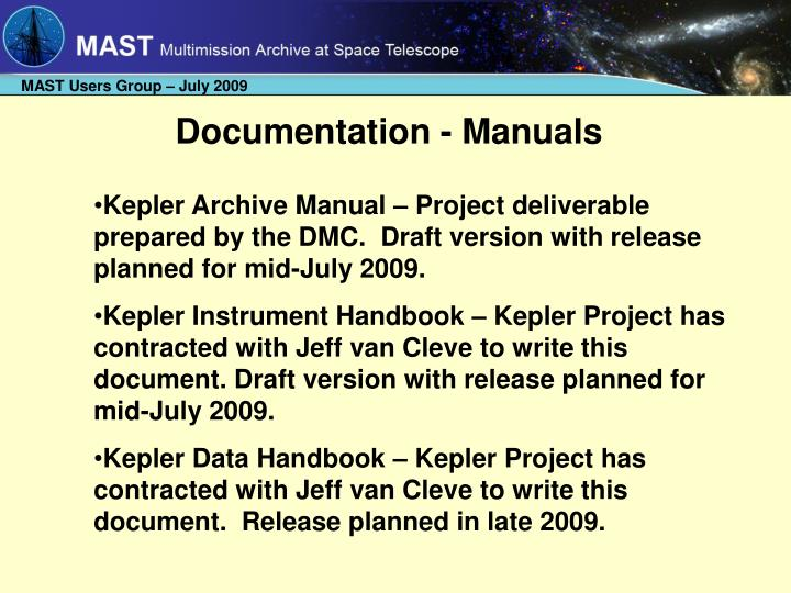 Documentation - Manuals